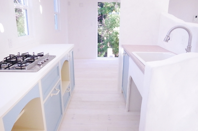 サントリーニ島  スタイルキッチン